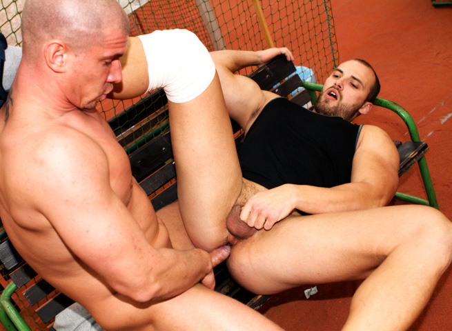 Out In Public Tomm and Max bareback sex uncut cocks Amateur Gay Porn 08 Amateur Muscle Jocks Barebacking In Public At An Indoor Tennis Court