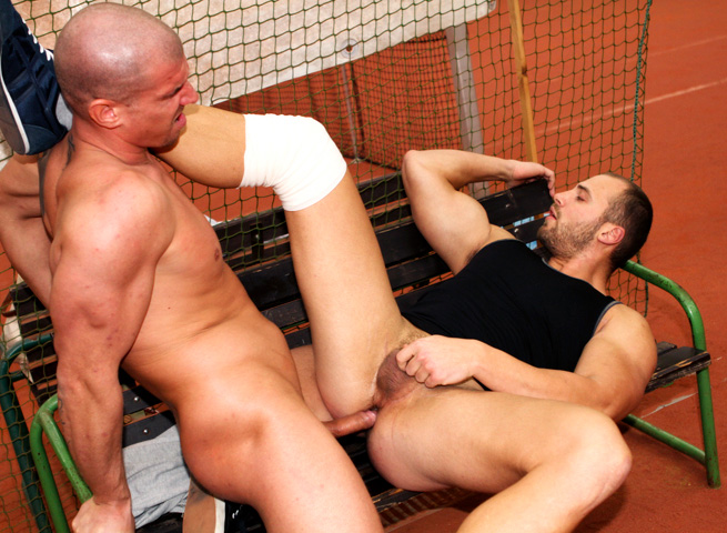 Out In Public Tomm and Max bareback sex uncut cocks Amateur Gay Porn 09 Amateur Muscle Jocks Barebacking In Public At An Indoor Tennis Court