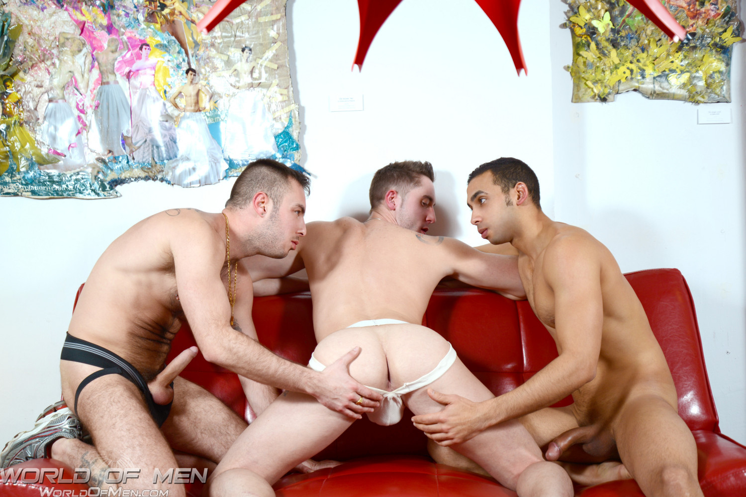 World-of-Men-Macanao-Torres-and-Juan-Lopez-and-Elio-Guzman-threeway-fucking-Amateur-Gay-Porn-04 Amatuer Gay Three Way Fucking At A Bathhouse in Madrid Spain
