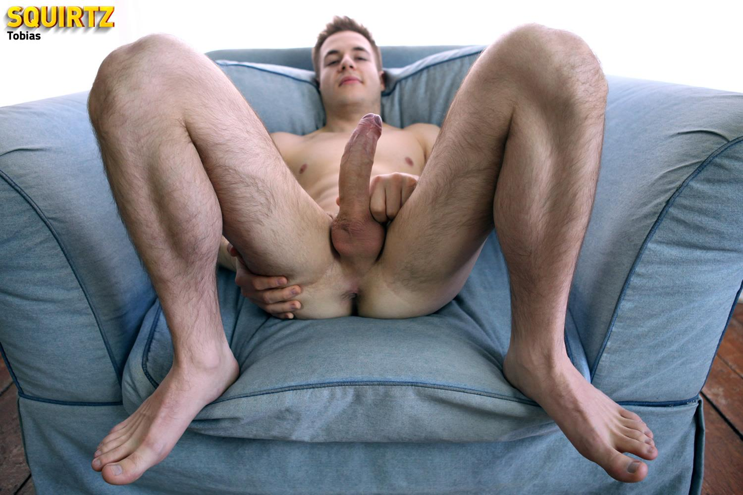 Squirtz-Tobias-Hairy-Legged-Twink-Masturbating-Big-Uncut-Cock-Amateur-Gay-Porn-10 Amateur Hairy Leg Twink Stroking His Big Uncut Cock