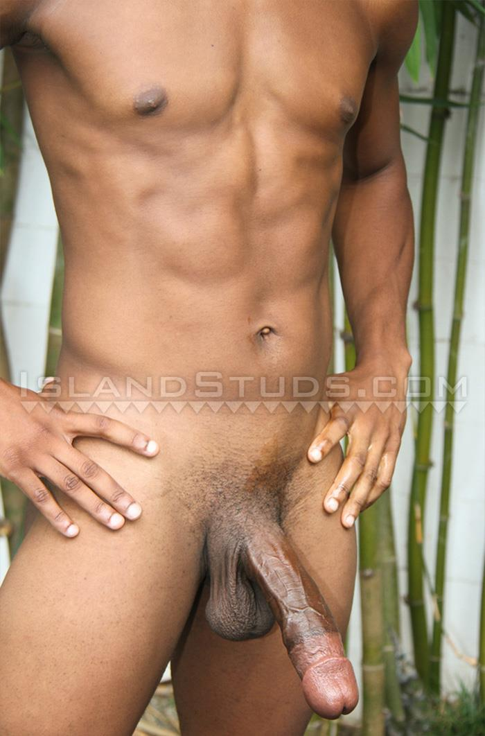 "Island-Studs-Lamont-Black-College-Surfer-With-11-inch-Black-Cock-Amateur-Gay-Porn-07 Black College Surfer Jerking His Big 11"" Cock In Hawaii"