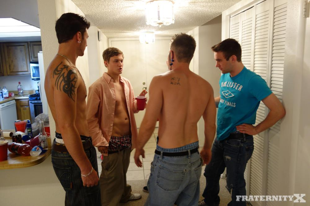 Naughty Frat Guys Blindfold Pledges