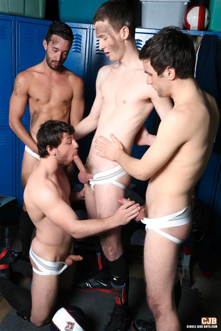 Circle-Jerk-Boys-Andrew-Collins-and-Isaac-Hardy-and-Josh-Pierce-and-Scott-Harbor-Soccer-Guys-Sucking-Cock-Amateur-Gay-Porn-05 After the Game, Soccer Plays Sucking Cock In The Locker Room