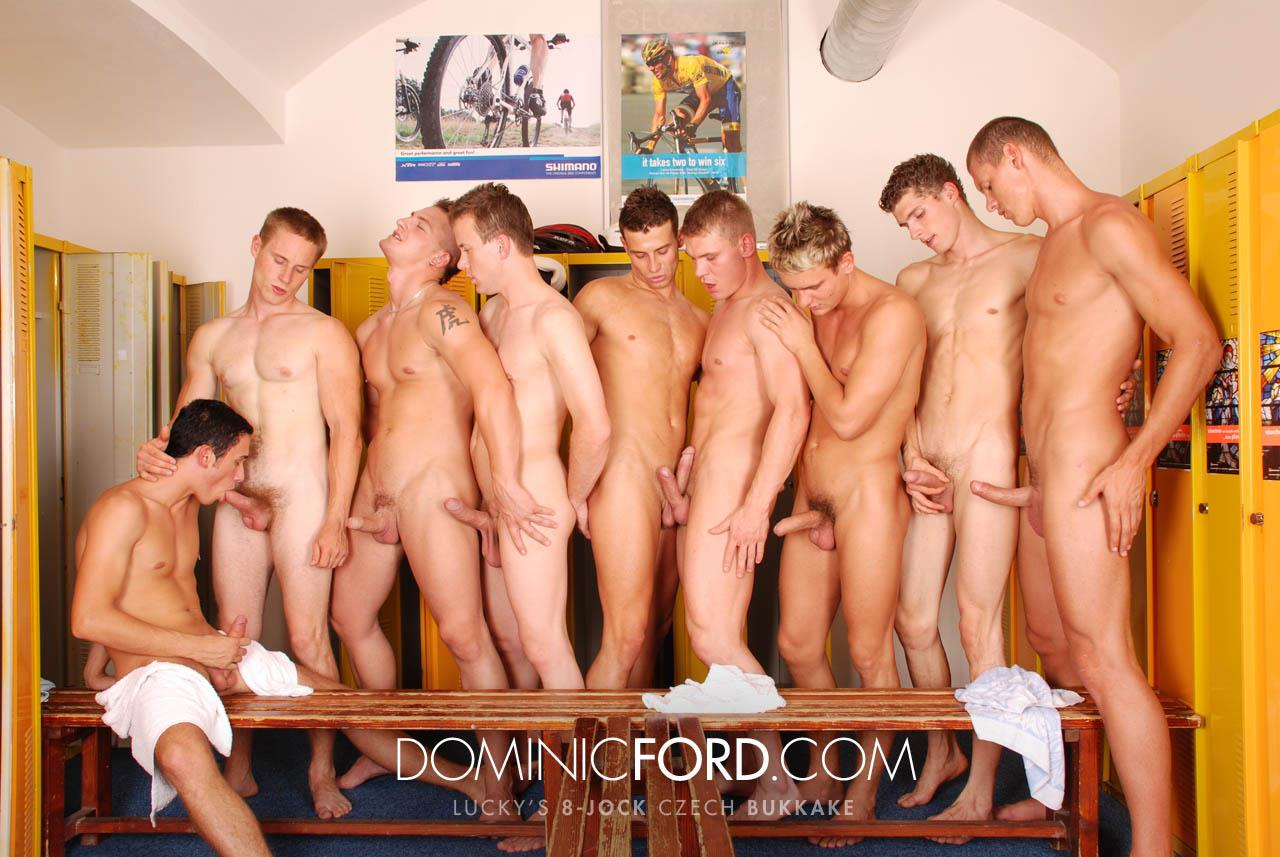 Dominic-Ford-8-Guy-Jocks-Big-Uncut-Cock-Bukkake-Czech-Amateur-Gay-Porn-388 Amateur Czech Uncut Jocks Giving One Lucky Guy An 8 Man Bukkake