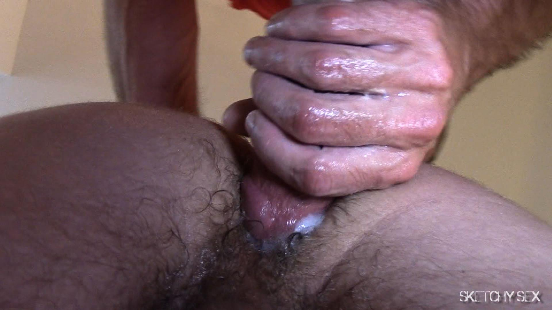 """Sketchy-Sex-Nate-Getting-Fucked-Bareback-By-A-10-Inch-Craigslist-Cock-Amateur-Gay-Porn-10 Taking A 10"""" Craigslist Cock Bareback While The Roommate Watches"""