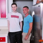 Wank This Brett Bradley and Josh Pierce Two Hung Guys Bareback fucking Amateur Gay Porn 01 150x150 Amateur Hung Guys Bareback Fucking In The Kitchen