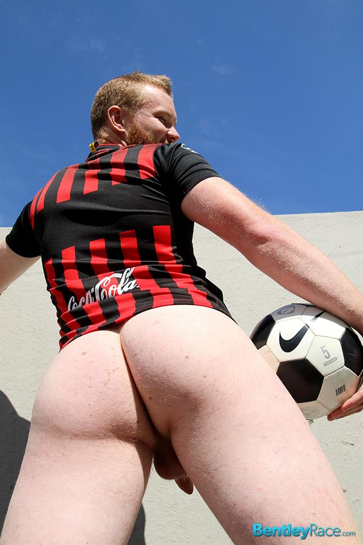 Bentley-Race-Beau-Jackson-Beefy-Redhead-Jerking-His-Big-Uncut-Cock-Amateur-Gay-Porn-21 Redhead Aussie Soccer Player Naked and Stroking A Big Uncut Cock