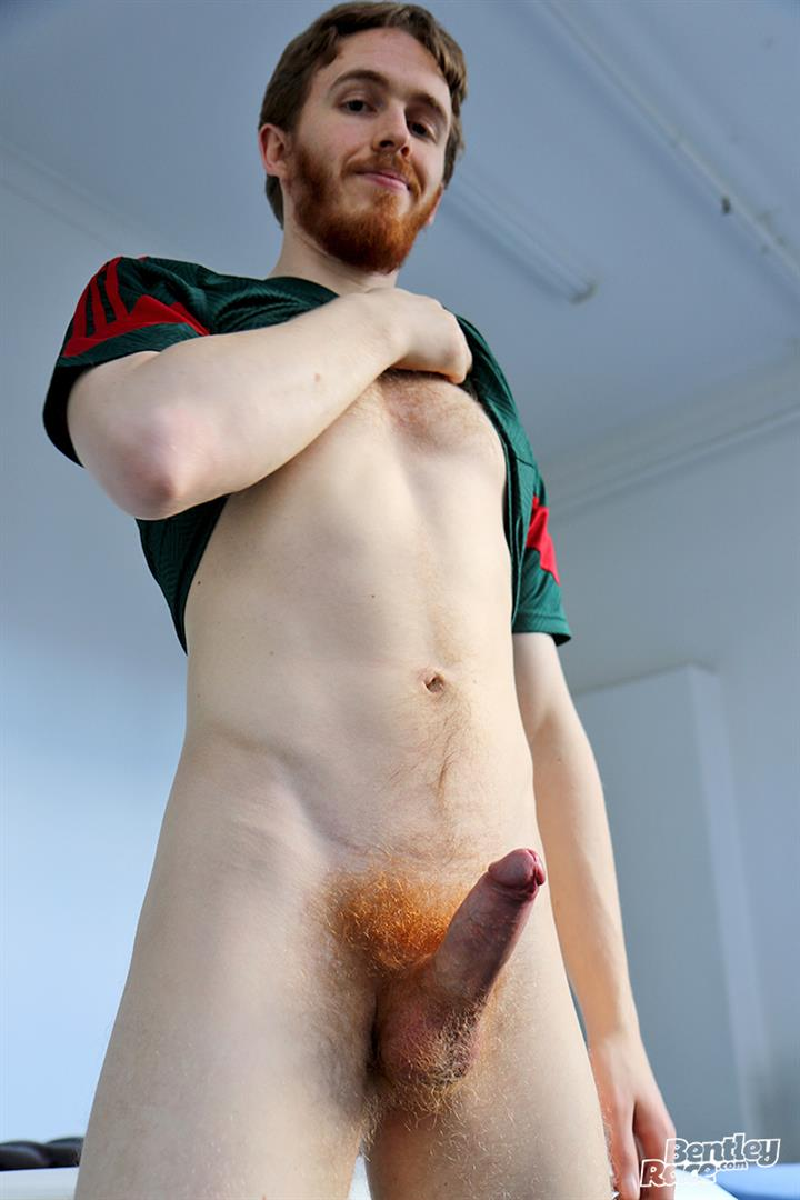 Bentley Race Tomas Kyle Redheaded Jock With A Big Uncut Cock 12 Ginger Jock Busts Out His Big Uncut Cock And Hairy Balls