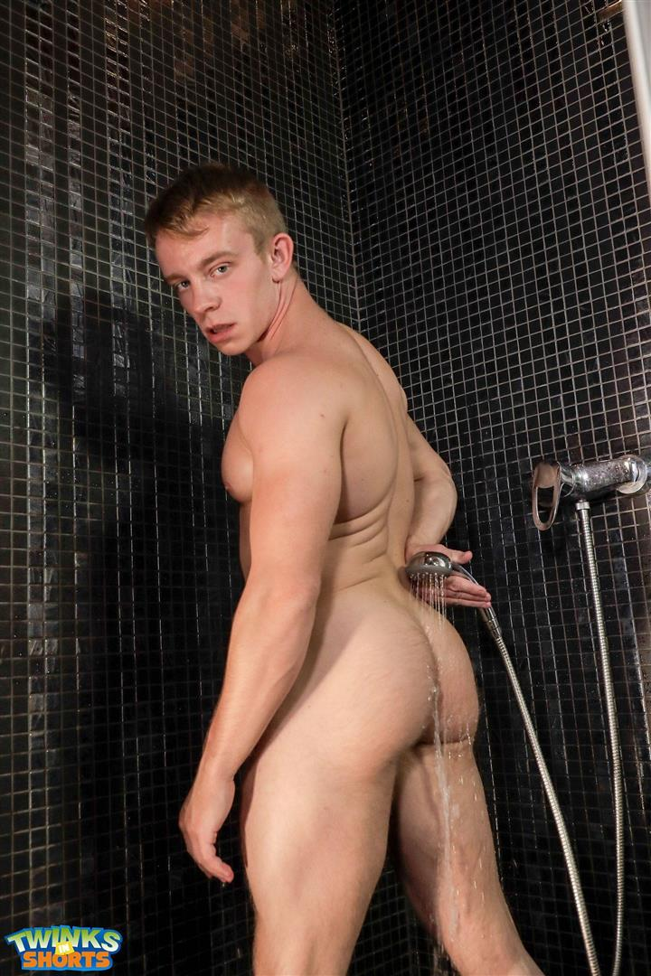 Twinks-in-Shorts-Gordon-Grant-Twink-With-Big-Uncut-Cock-Bubblebutt-07 Muscle Twink Gordon Grant And His Huge Uncut Cock